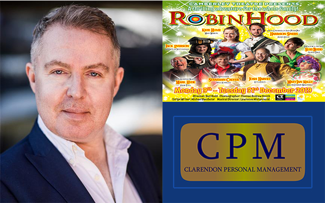 Matt Ian Kelly Joins the cast of Robin Hood at Camberley Theatre this Christmas