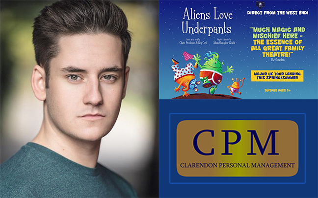 Dan Badrick joins the UK tour of Aliens Love Underpants