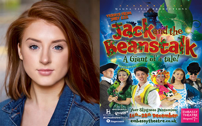 Ada-Jane Baker will be playing the role of Jill in The Embassy Theatre and Magna Vitae Productions Jack and the Beanstalk this Christmas
