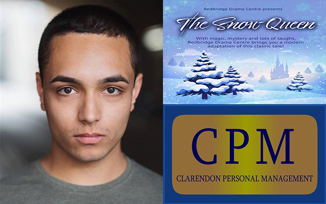 Benjamin Armstrong is performing in The Snow Queen at Redbridge Drama Centre this Christmas.
