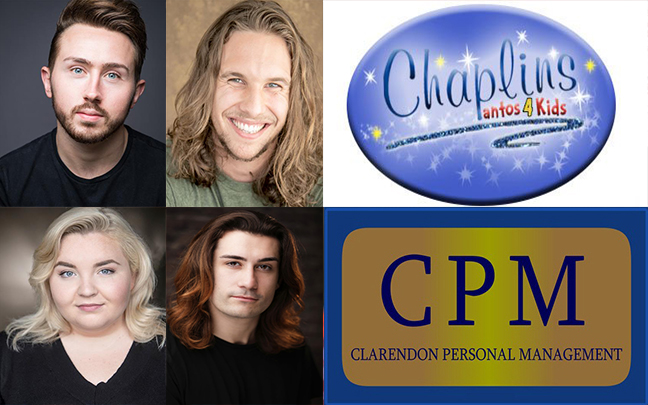 David Holland, John-Jake Harding, Blathnaid McCahilly and Todd Slaughter all join Chaplins Pantomimes this Christmas.