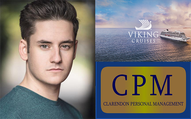 Dan Badrick sets sail as lead vocalist for Viking Cruises.