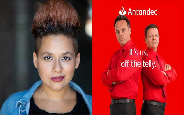 Daniella Boyd continues working with Ant and Dec in the Santander adverts