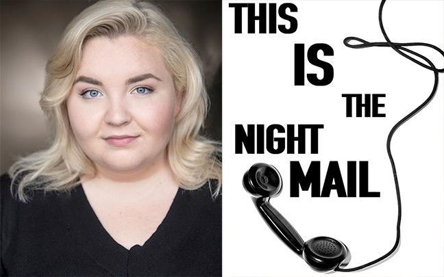 Blathnaid McCahilly has just finished shooting new feature film 'This Is The Night Mail' playing the role of Joolie.