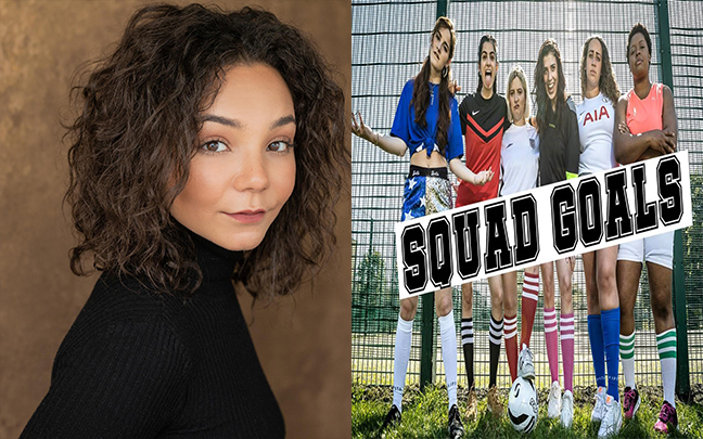 Leonie Wall joins the cast of Squad Goals the immersive play at Dagenham and Redbridge Football Club.