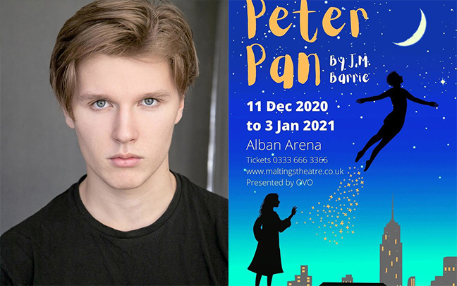 Zak Robinson joins the cast of Peter Pan at St Albans Arena.
