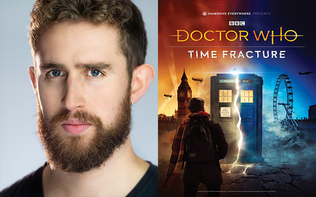 Maxwell Tyler joins the cast of the West End immersive production of Doctor Who: Time Fracture.