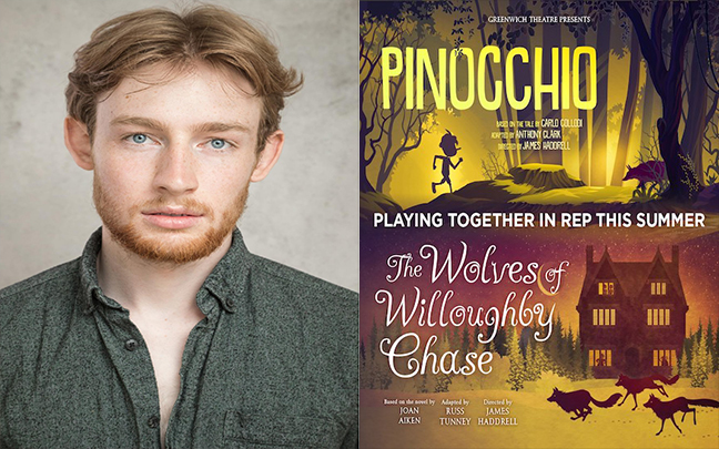 David Haller joins the cast of Peter Pan and the Wolves of Willoughby Chase playing in rep at The Greenwich Theatre.