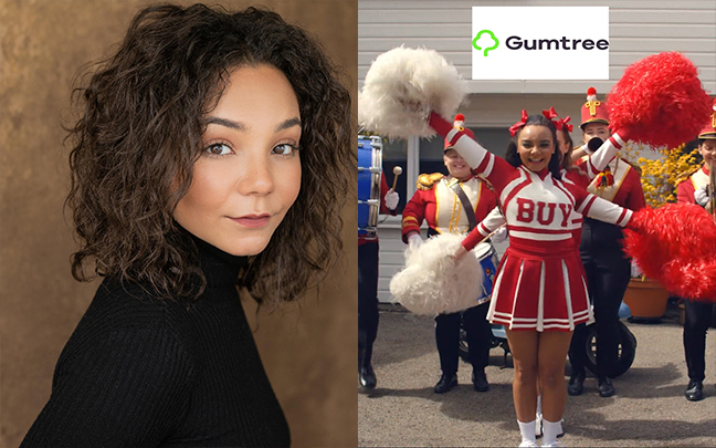 Leonie Wall can be seen in Gumtree's new advert.
